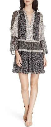 Ulla Johnson Essie Floral Print Silk Blend Minidress