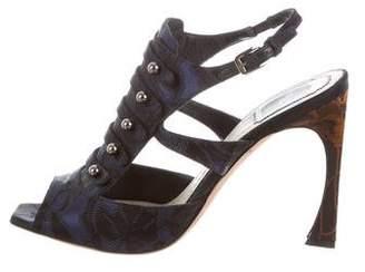Christian Dior Jacquard Sandals