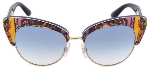 Dolce & Gabbana Cat Eye Sunglasses DG4277 303619 52 | Motif Frame | Blue Gradient Lenses