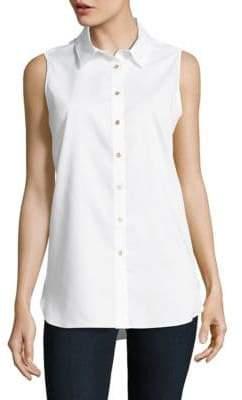 Calvin Klein Cotton Button-Front Top