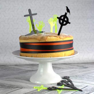 Rocket and Fox Halloween Cake Topper Set