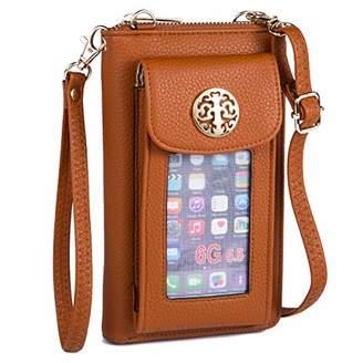 Heaye Women Wallet Wristlet Mini Crossbody with Outside Cell Phone Pocket Holder RFID