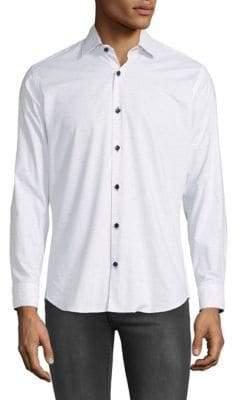 Jared Lang Marled Button-Down Shirt