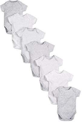 Mothercare Grey Animal Bodysuits - 7 Pack,(Manufacturer Size:56)