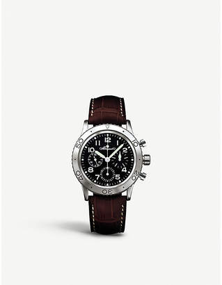 Breguet G3800ST929W6 Type XX stainless steel and leather strap chronograph watch