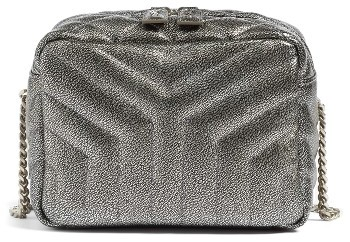 Saint LaurentSaint Laurent Monogram Small Leather Bowling Bag - Metallic