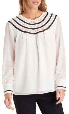 Embroidered Smocked Blouse