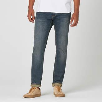 DSTLD Mens Slim Jeans in Dark Worn