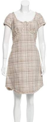 Marc Jacobs Short Sleeve Wool Dress