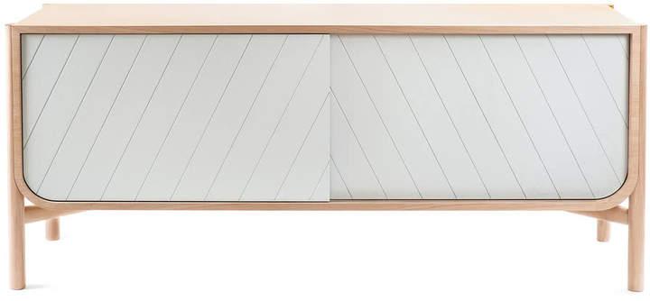 Hartô - Marius Sideboard 155 cm, eiche / lichtgrau (RAL 7035)