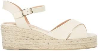 Castaner Blaudell Light Beige Fabric Wedge Sandal