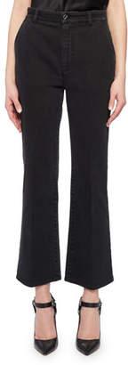 Altuzarra Dixon High-Waist Flare-Leg Crop Jeans