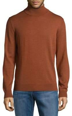 Black & Brown Black Brown Merino Wool Turtleneck