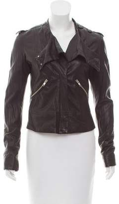 L.A.M.B. Long Sleeve Leather Jacket