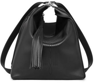 Allsaints Cooper Lea Calfskin Leather Backpack - Black $378 thestylecure.com