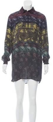 Mary Katrantzou Silk Shirt Dress w/ Tags Black Silk Shirt Dress w/ Tags