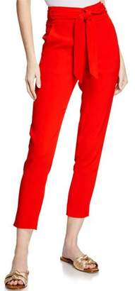 f8fed7cea509 Veronica Beard Faxon Belted Skinny Cropped Pants