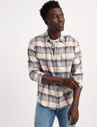 Lucky Brand Saturday Stretch Slim Lightweight Flannel