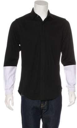 Public School Contrast Sleeves Woven Shirt