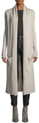 Sablyn Robertson Open-Front Cashmere Long Cardigan