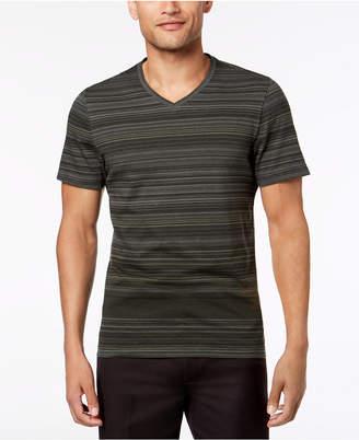 Alfani Striped V-Neck T-Shirt, Created for Macy's