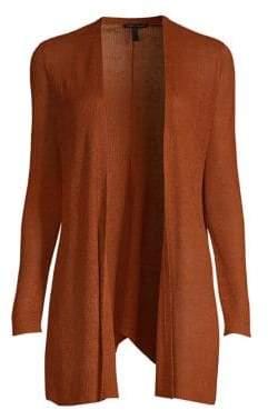 Eileen Fisher Bracelet-Sleeve Long Cardigan