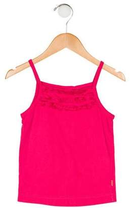 Oilily Girls' Sleeveless Ruffled Top