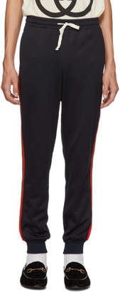 Gucci Blue Web Lounge Pants