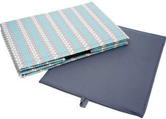 Pivoine Flatpack Storage Bin Storage Bin, Mosaic Gray and Sky Blue
