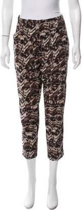 Alice + Olivia Mid-Rise Printed Pants