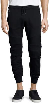 Belstaff Ashdown Tapered Moto Sweatpants, Black