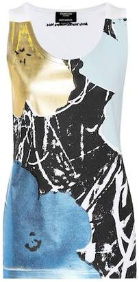 Calvin Klein Printed stretch-cotton tank top