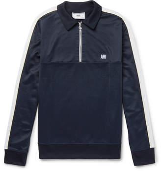 Ami Jersey Half-Zip Sweater