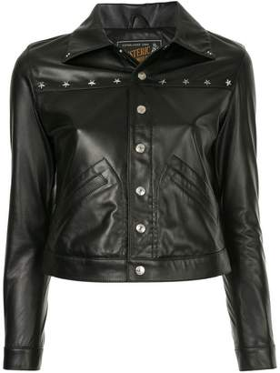 Hysteric Glamour cropped leather jacket