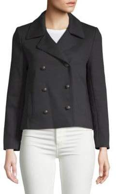 Zadig & Voltaire Maili Double-Breasted Peacoat