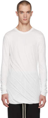 Rick Owens White Long Sleeve T-Shirt