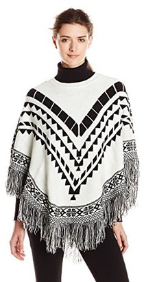 Kensie Women's Plush Knit Sweater Pancho $99 thestylecure.com