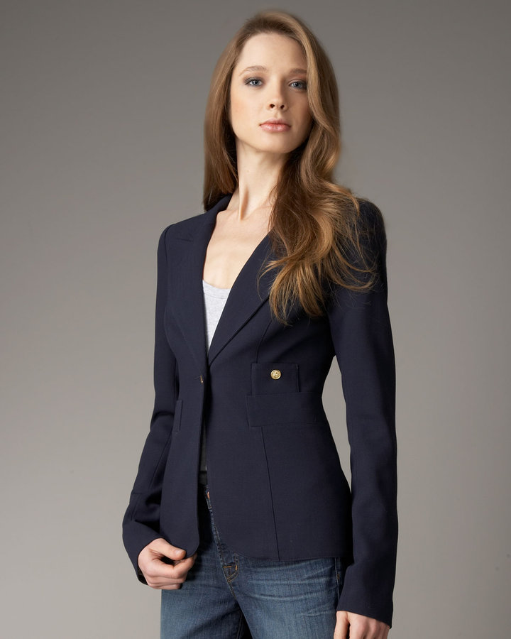 Smythe One-Button Blazer