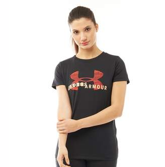Under Armour Womens Tech Graphic Top Black