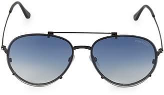 Tom Ford 61MM Browline Aviator Sunglasses