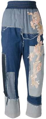 Antonio Marras patch-work jeans