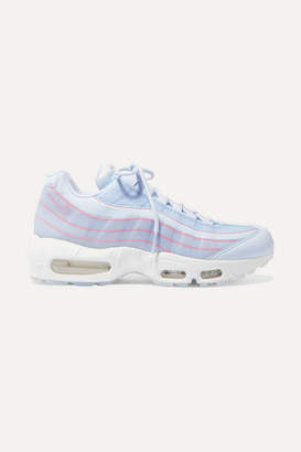 Nike Air Max 95 Se Mesh, Leather And Pvc Sneakers - Blue