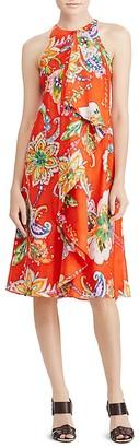 Lauren Ralph Lauren Ruffle Front Floral Paisley Dress $155 thestylecure.com
