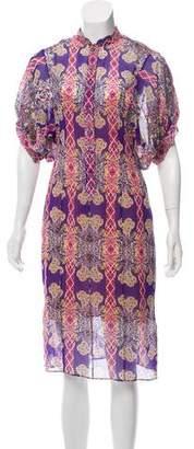 Zac Posen Printed Midi Dress