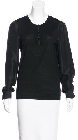 Marc by Marc Jacobs Long Sleeve Wool Top