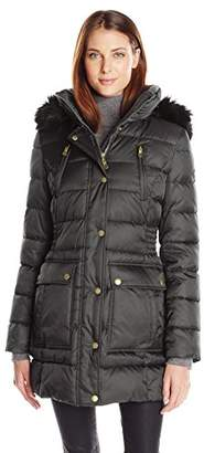 Halifax Traders Women's Puffer Coat with Front Pockets