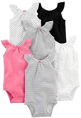 Carter's Simple Joys by Girls' 6-Pack Sleeveless Bodysuit