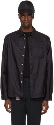 Prada Black Nylon Button-Down Jacket
