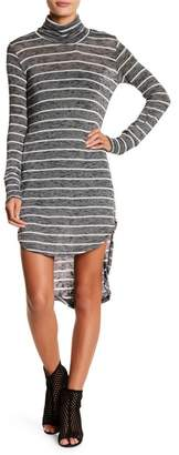 American Twist Turtleneck Hi-Lo Knit Dress
