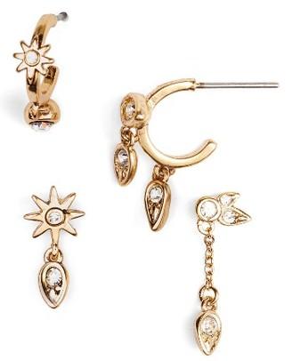 Women's Luv Aj Mismatch Starburst Earrings $85 thestylecure.com